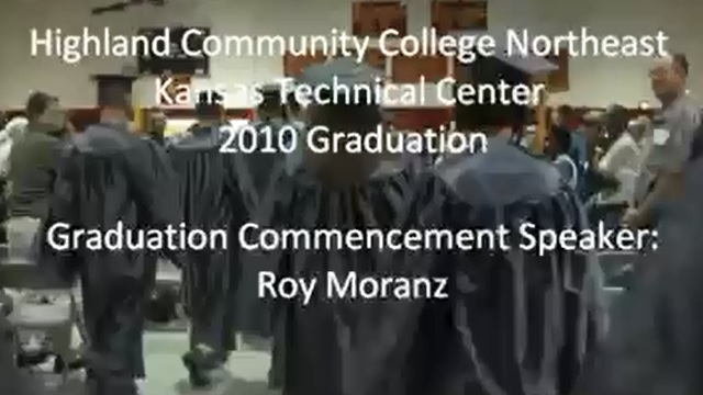 Highland Community College graduation commencement speech by Roy Moranz