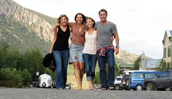 Picture of Roy Moranz, Leslie Perrot, Vicky Sama and Kristen Krieger in Crested Butte.