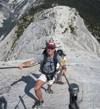 Picture of Roy Moranz hiking Half Dome.