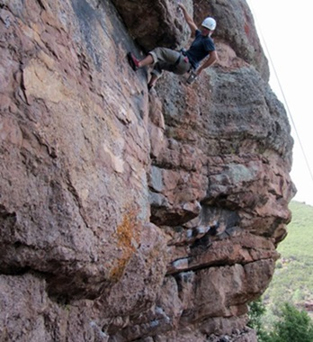Picture of Roy Moranz climbing at Pinnacles.