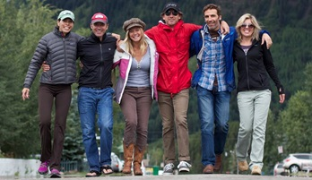 Picture of Roy Moranz, Leslie Perrot, Vicky Sama, Todd Davidson and Michael Frontera in Crested Butte.