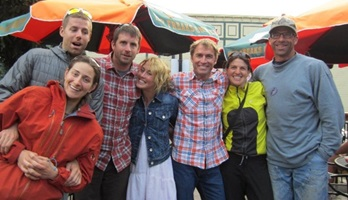 Picture of Roy Moranz and Daniel Gillespie in Crested Butte Colorado with friends.