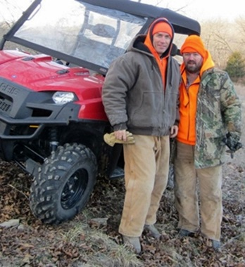 Picture of Roy Moranz and Richard Moranz Deer Hunting in Atchison Kansas.